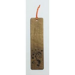 Segnalibro in legno di noce PRIMAVERA con incisione laser personalizzata www.personalizzazionilaser.it
