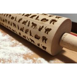 Mattarello in legno gatti con incisione a laser personalizzata www.personalizzazionilaser.it