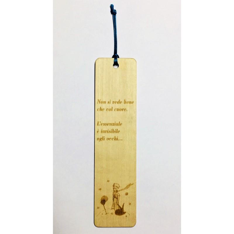 Segnalibro in legno il piccolo principe con incisione laser personalizzata www.personalizzazionilaser.it