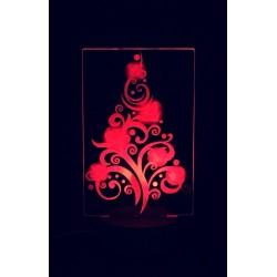 Lampada albero di Natale in plexiglass con base a led personalizzabile www.personalizzazionilaser.it