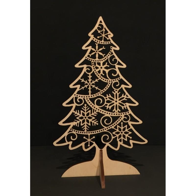 Albero di Natale in legno www.personalizzazionilaser.it