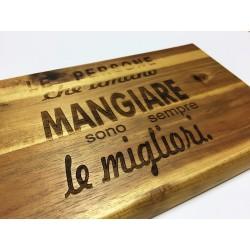 Tagliere in legno d'acacia con incisione personalizzata a laser www.personalizzazionilaser.it