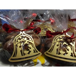 Addobbo campana di Natale in plexiglass con natività www.personalizzazionilaser.it