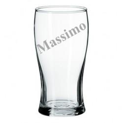 Bicchiere da birra con incisione laser personalizzata www.personalizzazionilaser.it