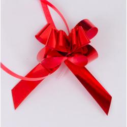 Stelline strip rosse metallizzate con nastrino www.personalizzazionilaser.it