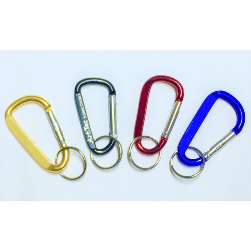 Portachiavi moschettone in alluminio con incisione laser personalizzata www.personalizzazionilaser.it