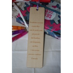 Segnalibro personalizzato in legno regalo di fine anno maestra/insegnante  www.personalizzazionilaser.it