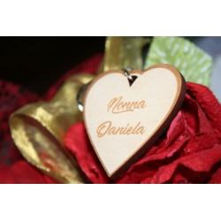 Portachiavi in legno per nonna con incisione laser personalizzata www.personalizzazionilaser.it