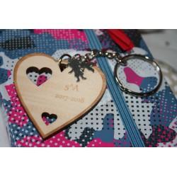 """Portachiavi """"grazie di cuore"""" personalizzato regalo di fine anno maestra/insegnante  www.personalizzazionilaser.it"""