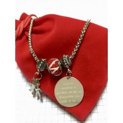 Bracciale regalo di fine anno maestra/insegnante personalizzato www.personalizzazionilaser.it