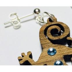 Orecchini in legno pendenti GECO www.personalizzazionilaser.it
