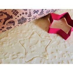 Mattarello in legno decoro natalizio personalizzato con incisione laser  www.personalizzazionilaser.it