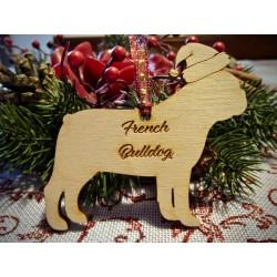 Pallina albero di Natale Mod. Cane con nome personalizzato  www.personalizzazionilaser.it