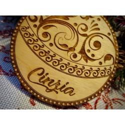 Pallina albero di Natale con nome personalizzato  www.personalizzazionilaser.it
