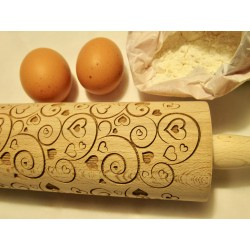 Mattarello in legno San Valentino personalizzato con incisione laser  www.personalizzazionilaser.it