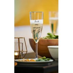 San Valentino set da due calici da spumante con incisione laser personalizzata   www.personalizzazionilaser.it