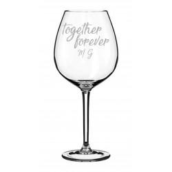 San Valentino set da due bicchieri vino rosso con incisione laser personalizzata www.personalizzazionilaser.it