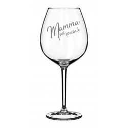 Bicchiere da vino rosso con incisione laser personalizzata www.personalizzazionilaser.it
