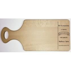 Tagliere in legno di faggio con incisione laser personalizzata www.personalizzazionilaser.it