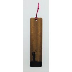 Segnalibro in legno di mogano AMORE con incisione laser personalizzata www.personalizzazionilaser.it